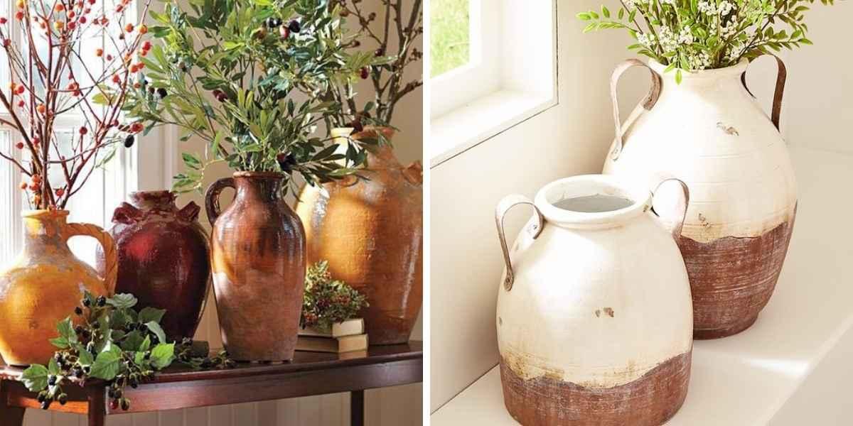 vasijas decoración casa de campo
